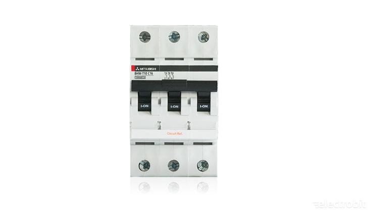 Electrobit - MCB tööstuslikud automaatkaitselülitid: Mitsubishi BHW-T10 kaitselüliti